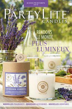 Hiver/Printemps 2015 Partylite Catalogue, Candle Jars, Candles, Shops, New Catalogue, Verbena, Place Cards, Place Card Holders, Table Decorations