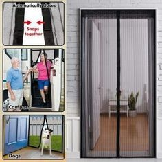 6 Pack Magna Screen Magnetic Mesh Screen An Instant Door Built with 20 Magnets