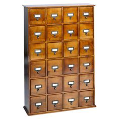 Library Card Catalog Style storage || I want this in my craft room!