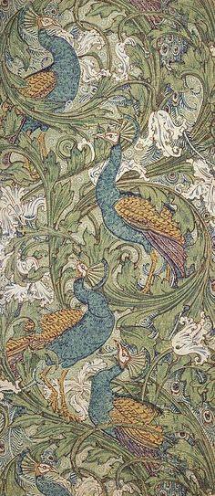 Peacock Garden wallpaper Print by Walter Crane