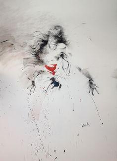 ewa hauton ink on paper Sketch Painting, Painting & Drawing, Deep Art, Bar Art, Fantasy Paintings, Dance Art, Art Portfolio, Figure Drawing, Love Art