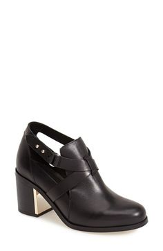 Topshop 'Mirror' Crisscross Strap Leather Ankle Boot (Women) available at #Nordstrom