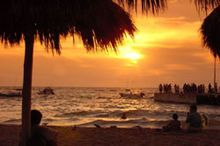 Puerto Vallarta is a Mexican balneario resort city situated on the Pacific Ocean's Bahía de Banderas. I had the time of my life here with my parents. Mom and I danced on the beach after Planter's Punch drinks, and Daddy and I had a tanning contest. He won, as always. :)