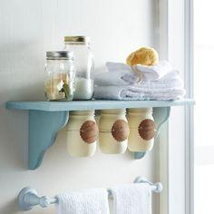Get more use out of your everyday shelf with trendy Under Shelf Mason Jar Storage. Extra storage...