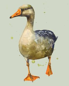 Goose - mother goose - geese Painting by Alison Fennell - Goose - mother goose - geese Fine Art Prints and Posters for Sale