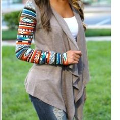 Tribal Tan Multicolored Cardigan Nwt Retail! Fits like a small! Tag size medium!   Smoke Free Home. Free Gifts With All Purchases. No Trades. Remember 20% Fee.        Thanks for shopping with me! Firm unless bundled Sweaters Cardigans