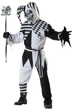 nobodys fool jester costume adult