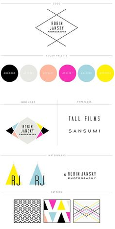 Modern and bright branding for Robin Jansky Photography || Red Met Yellow