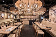 Shokutsuten restaurant by Arterior Singapore Pte Ltd. at Great World City Shopping Mall, Singapore » Retail Design Blog