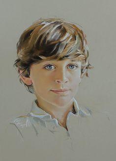 Child portrait, pastel on Canson paper, floating head Pencil Portrait Drawing, Portrait Sketches, Portrait Illustration, Portrait Art, Portraits Pastel, Watercolor Portraits, Pastel Drawing, Pastel Art, Pastel Paintings