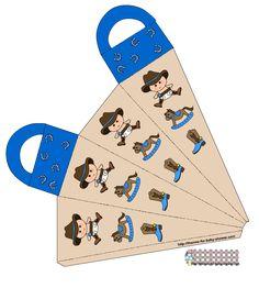 Kit Vaquero en Azul para Baby Shower, para Imprimir Gratis.