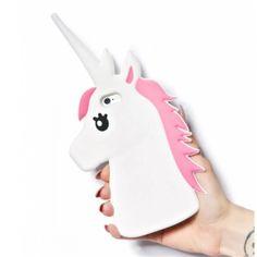 Yeni Moda 3D Unicorn Tasarım Koruyucu Silikon Shell Kapak iphone 5 5 s 6 s 6 artı Sevimli Karikatür Beyaz At Telefon Kılıfları