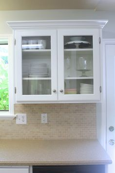 Everywhere Beautiful : Kitchen Remodel: Big Results On A Not So Big Budget  · Glass Kitchen Cabinet DoorsGlass ...