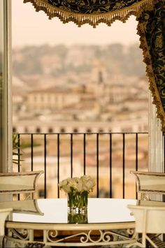 A room with a view at InterContinental de la Ville Rome hotel