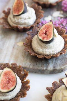 Raw Vanilla, Almond, and Fig Tarts