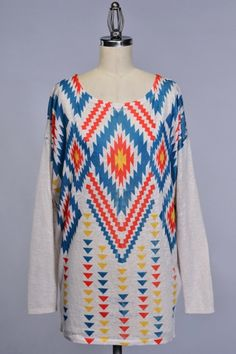 AZTEC SUBLIMATION LONG SLEEVE KNITTED TOP ARRIVAL DATE JAN 30TH