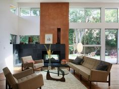 Contemporary Living in Open, Modern Great Room from HGTV