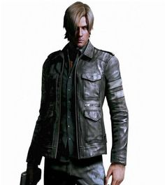 Leon Kennedy Leather Jacket has been taken from Resident Evil 6 Horror Video Game. This Leon Kennedy Jacket has full front zip closure with four Pocket adding bold to you star Men's Leather Jacket, Faux Leather Jackets, Leather Men, Black Leather, Leather Coats, Leather Store, Leather Fashion, Vintage Leather, Vintage Men
