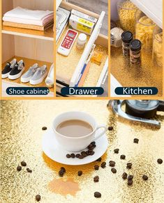 The Ultimate Self-Adhesive Kitchen Oil-Proof Sticker Has Finally Been Released! To segregate your kitchen countertop and walls from stubborn oil stains. To save your drawers, cabinets and shelves. Kitchen Worktop, Kitchen Countertops, Flexible Pipe, Aluminium Kitchen, Kitchen Stickers, Oil Stains, Foil Paper, Drink Holder, Shoe Cabinet