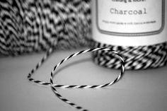 'Charcoal' Baker's Twine
