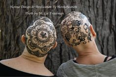 These Henna Crowns were for Dr. Patricia Rockman and her friend, designed and created by Joanne Rumstein-Ellis of Hennafication. Joanne is one of the original Toronto-based henna artists, and 1 of 200 henna artists in our international data base. Dr. Rockman's henna crown was featured in this article http://www.mindfulnessstudies.com/wp-content/uploads/2014/10/Cancer.pdf
