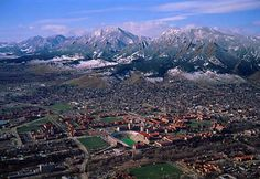 Alma mater, University of Colorado.  As long as there is a mountain range at my back, I can figure out where I am.