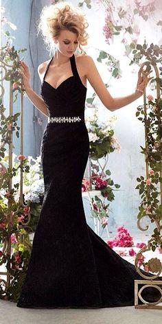 18 Gorgeous Black Wedding Dresses ❤ See more: http://www.weddingforward.com/black-wedding-dresses/ #weddings #dresses