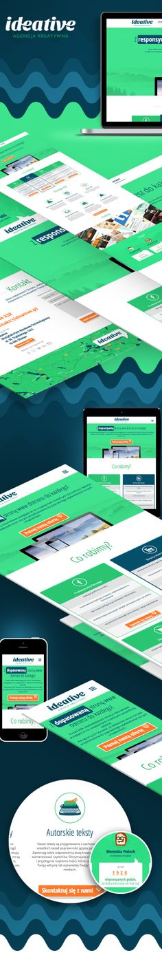 Ideative Creative Agency Website / Ideative / #green #navy blue #portfolio #responsive Portfolio Web Design, Navy Blue, Website, Creative, Green, Poster, Movie Posters