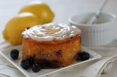 Simple Blueberry Lemon Birthday Cake