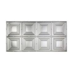 Fasade Portrait 2 Ft X 4 Glue Up Ceiling Tile In Brushed Aluminum