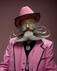 Photos by Dave Mead of the men at the World Beard and Mustache Championship.