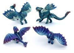 Two new Furies by hontor on DeviantArt Polymer Clay Dragon, Cute Polymer Clay, Cute Clay, Httyd Dragons, Cute Dragons, Cute Fantasy Creatures, Mythical Creatures, Night Fury Dragon, Demon Art