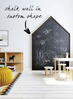 20 Easy Playroom Mural Design Ideas For Kids Playroom Ideas Design Easy Ideas Kids Mural Playroom Chalkboard Wall Kids, Chalk Wall, Blackboard Paint, Playroom Mural, Playroom Design, Playroom Ideas, Toddler Playroom, Montessori, Room Wall Painting