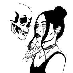 Image about art in Outlines💤 by Skandra♡ on We Heart It Discovered by Salara Everhart. Find images and videos about art and drawing on We Heart It - the app to get lost in what you love. Dark Art Drawings, Art Drawings Sketches, Tattoo Sketches, Tattoo Drawings, Skull Drawings, Art Tattoos, Fantasy Kunst, Flash Art, Dope Art