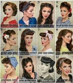Pin up hair for my bridesmaids!