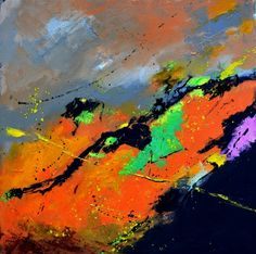 abstract 555121, painting by artist ledent pol