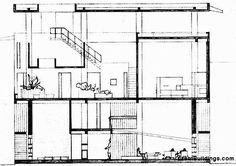 Great Buildings Drawing - Shodan House