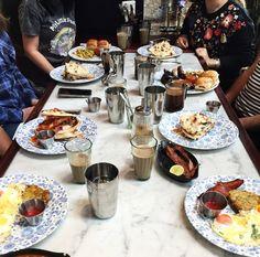 Breakfast at Dishoom, London - Bombay cafe and restaurant serving trendy Indian food. Breakfast Cafe, Best Breakfast, Breakfast Recipes, Healthiest Nut Butter, London Food, London Eats, Brunch Spots, Brunch Menu, Steak And Eggs