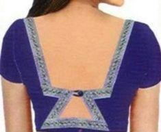 All Latest 1000 Blouse Back Neck Designs 2018 – Blouse Back Neck Designs Blouse Back Neck Designs, Neck Designs For Suits, Sari Blouse Designs, Sleeves Designs For Dresses, Choli Designs, Fancy Blouse Designs, Blouse Patterns, Sleeve Designs, Ladies Fashion