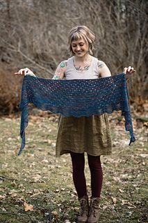 This shawl is currently only available as a part of the A Verb For Keeping Warm Proverbial Shawl club!