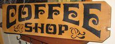 Coffee Shop.......primitive by hilltopprims on Etsy