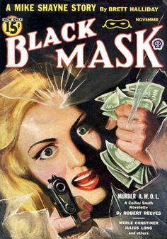 Black Mask Pulp Magazine Cover 1944