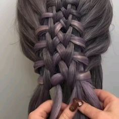 Amazing Braid Tutorial by Braids Tutorials from her are always stunning – Farbige Haare Box Braids Hairstyles, Girl Hairstyles, Pretty Hairstyles, Braid Styles, Short Hair Styles, Cool Braids, Hair Videos, Hair Lengths, Hair Hacks