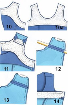 Treatment of neck and armholes products