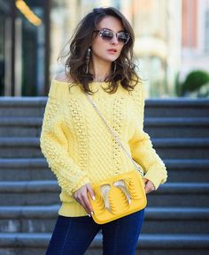 Turtle Neck, Outfits, Pullover, Yellow, Sweaters, Fashion, Color Combinations, Colors, Tejidos