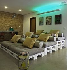 """This would be awesome in a family/ recreation room. Can you say """"Movie Night""""?!!!"""