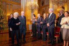 King Albert II of Belgium and Queen Paola attend the Christmas...