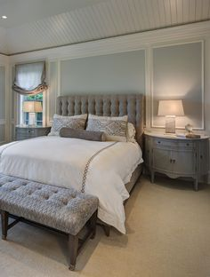 Master Bedroom-East Hamptons Inspired Home Renovation