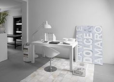 White home office..