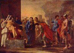 "Description of the painting by Nicolas Poussin ""The generosity of Scipio""Description picture - Poussin Nicolas Artist Canvas, Canvas Art, Canvas Prints, Canvas Size, Framed Art Prints, Painting Prints, Paintings, Poussin Nicolas, Art Encadrée"